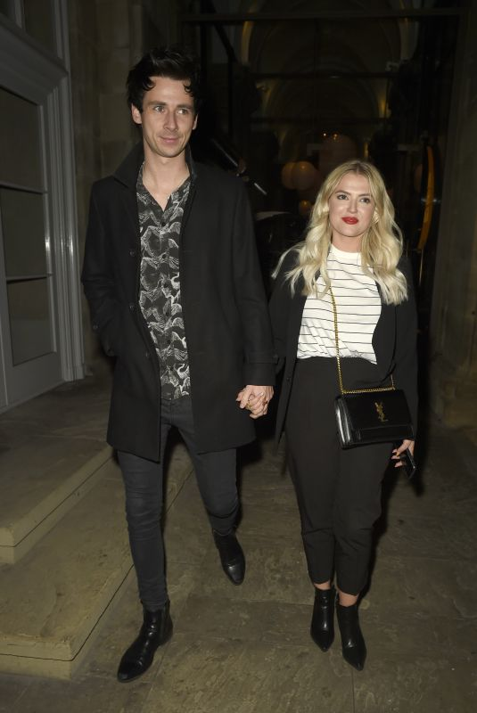 Lucy Fallon and her boyfriend Tom Leech enjoy a date night at Peter Street Kitchen Restaurant in Manchester