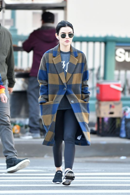 Lucy Hale Out for a stroll in New York