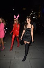 Lucy Watson Leaving the HallowZeem Party at M Restaurant in Victoria, London
