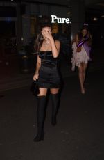 Lucy Watson Seen leaving the HallowZeem party at M Restaurant in Victoria, London