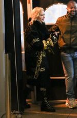 Madonna After performing at the Chicago Theater during her
