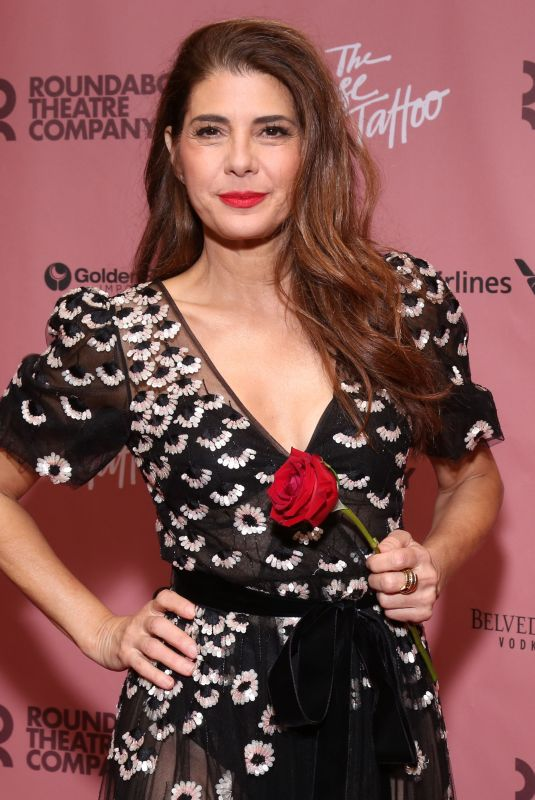 Marisa Tomei At Opening Party for The Rose Tattoo at the Hard Rock Cafe, New York