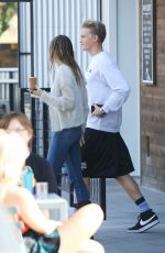 Miley Cyrus Out for a coffee run at Blue Bottle Coffee in Studio City