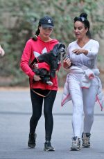 Miranda Cosgrove Out with her dog Penelope in LA