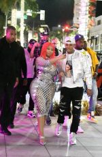 Nicki Minaj Is mobbed by fans while arriving to her Fendi Launch in Beverly Hills