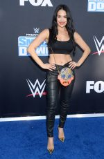 Nikki & Brie Bella At WWE 20th Anniversary Celebration at Staples Center, Los Angeles