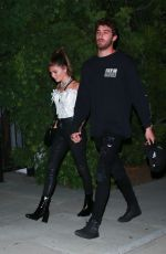 Olivia Jade Giannulli Leaves a Beverly Hills house party with her on again - off again boyfriend