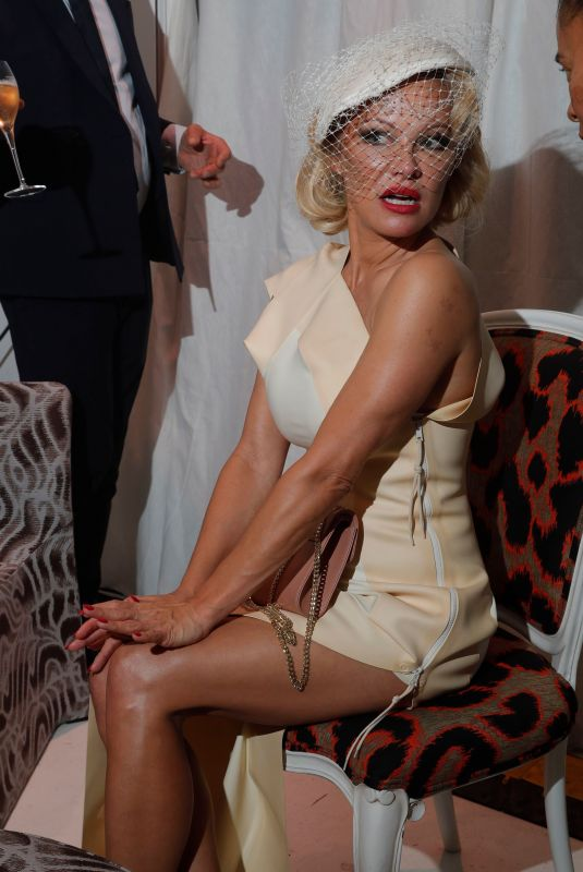 Pamela Anderson At Andreas Kronthaler for Vivienne Westwood show, Front Row, Paris Fashion Week