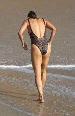 Paula Patton Is out for a swim in Malibu Beach