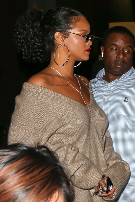 Rihanna Leaves the Nice Guy in West Hollywood