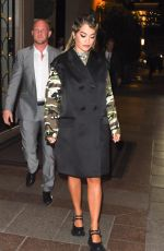 Rita Ora Arriving at the Miu Miu after party dinner in Paris