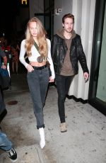 Romee Strijd Leaving Catch after enjoying a dinner date in West Hollywood