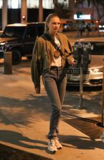 Romee Strijd Leaving Zinqué in West Hollywood
