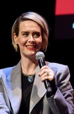 Sarah Paulson Speaks onstage during a talk with Michael Schulman at the 2019 New Yorker Festival in New York City