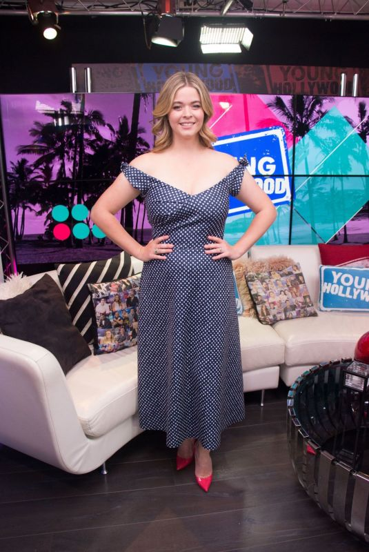 Sasha Pieterse Visits the Young Hollywood Studio in LA