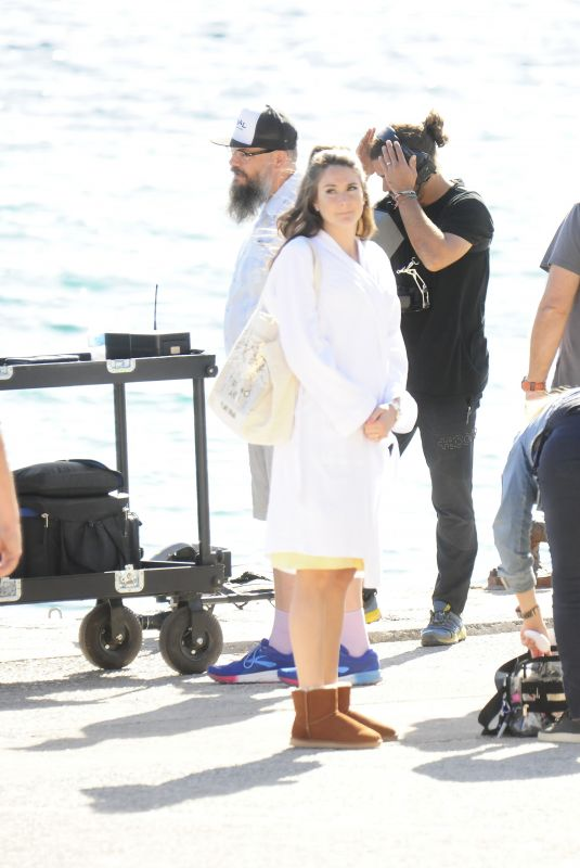 Shailene Woodley On set of movie the Last Letter from your Lover in Spain