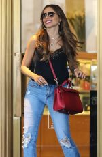 Sofía Vergara Shopping at Saks Fifth Avenue in Beverly Hills
