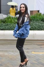 Stephanie Davis Looking fit well and happy as she leaves Menagerie in Manchester