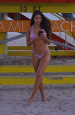 Tao Wickrath Shows off her toned beach body in Miami