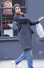 Thandie Newton Dresses down whilst shopping for her children in Notting Hill West London