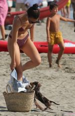 Vittoria Ceretti with her boyfriend Tony Effe at the seaside in Forte dei Marmi