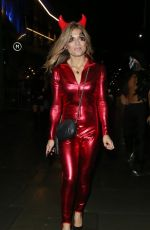 Zoe Hardman Seen leaving the HallowZeem party at M Restaurant in Victoria, London