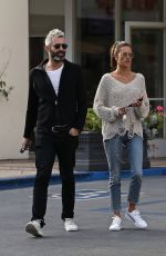 Alessandra Ambrosio Goes shopping with a friend at Fred Segal in West Hollywood