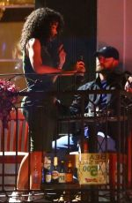 Alisha Wainwright Enjoying herself on the night she was pictured holding hands with co-star Justin Timberlake