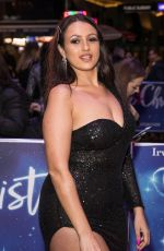 Amel Rachedi Attends the White Christmas Musical press night at the Dominion Theatre