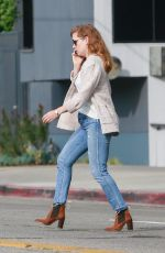 Amy Adams Outside Ca Del Sole Italian Restaurant in Toluca Lake