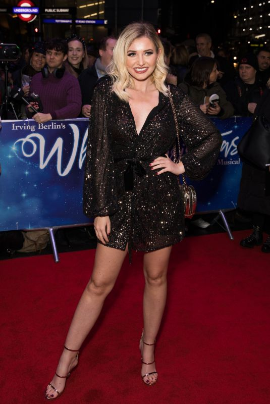 Amy Hart Attends the White Christmas Musical press night at the Dominion Theatre, London