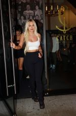 Anastasia Karanikolaou Spotted leaving dinner at CatchLa with friends in Los Angeles