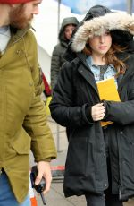 Anna Kendrick On the set of
