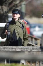 Anne Hathaway Out in Fairfield County with her husband