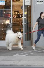 Ariel Winter Picks up her dogs at a salon in LA