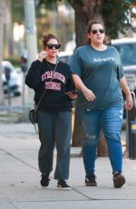 Ashley Benson Makes her way to a Pet Hospital with friends in Los Angeles