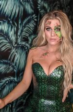 Ashley James At a Halloween Party in London