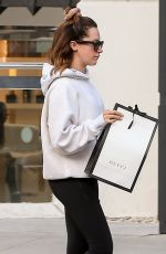 Ashley Tisdale Finishes a shopping trip at the Gucci store in Beverly Hills