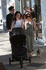 Ashley Tisdale Shops at the local farmers market in Los Angeles