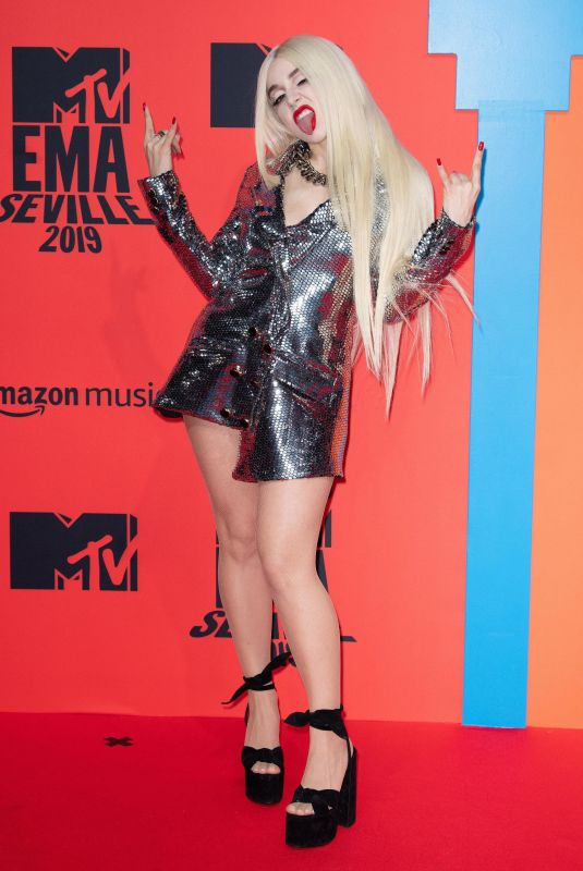 Ava Max At 2019 MTV Europe Music Awards in Seville, Spain