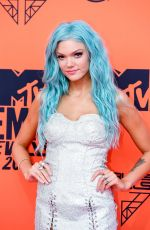 Becca Dudley At 26th MTV European Music Awards in Seville, Spain