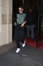 Bella Hadid Leaving the Royal Monceau Raffles Paris Hotel in Paris