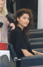 Blanca Blanco Gets her hair done ahead of the weekend in Beverly Hills