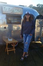 Blanca Blanco Poses for photos while out enjoying her day at the Malibu pier