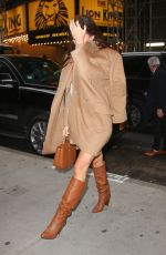 Camila Morrone Stylish in light brown outfit in NY
