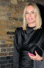 Caroline Stanbury Dressed in a little black number spotted on a night out outside the Chiltern Firehouse in London
