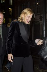 Cate Blanchett Leaving the Fayre of St. James Christmas Carol Concert in London