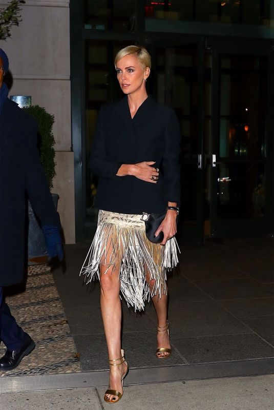 Charlize Theron Heads to an event in New York City