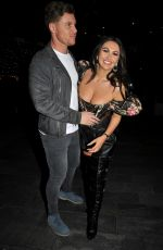 Charlotte Dawson and Matt Sarsfield pictured arriving at The Ivy Restaurant in Manchester