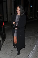 Cheryl Burke Dines at Catch restaurant in West Hollywood